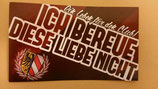 Nürnberg ich bereue diese Liebe nicht Aufkleber