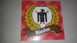 150 München Lorbeerkranz Aufkleber