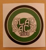 150 Gladbach 1900 rund 7x7cm Aufkleber
