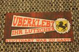 150 Stuttgart Überklebt Aufkleber