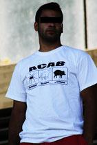 ACAB Bullenschweine Weiss Shirt