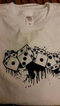 Würfel Shirt weiss
