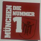 150 München Die Nr1 Aufkleber 6x6
