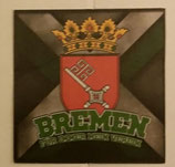 150 Bremen für immer mein Verein 6x6 Aufkleber