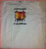 Pyrotechnik Shirt weiss (postermotiv)