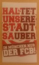 150 München Aufkleber Stadt sauber