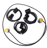 4x OPS-Spezial Patch-Kabel 1m in verschiedenen Farben mit OPS-spezial Winkelsteckern