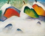 Franz Marc. Hocken im Schnee
