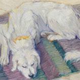 Franz Marc. Liegender Hund