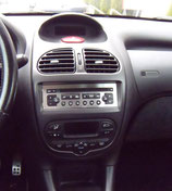 PEUGEOT 206 PLACA RADIO CD INOX