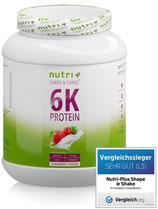 NutriPlus 6K Proteinpulver 1 Kg (Teil 1, 6 Geschmacksrichtungen)