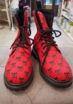 Canvas / Boot rot / schwarz Cat von Inamagura (SUPERAKTION)