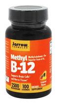 Jarrow Methyl B12 2500 mcg - 100 Lutschtabletten Pfirsich