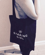 Staring Girl - Logo (Beutel)