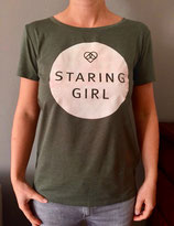 Staring Girl - Logo (T-Shirt, girls)