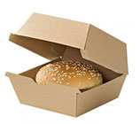 Caja de cartón kraft para hamburguesas