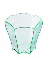 Mini verde transparente en forma de flor