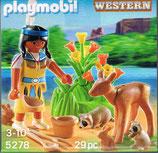 Playmobil 5278 Indianer Mädchen mit Waldtieren im Osterei