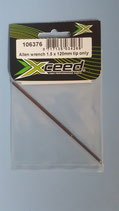BALL DRIVER HEX WRENCH 2.5 X 120 TIP ONLY - INSERTO TESTA BRUGOLA SFEROIDALE 2.5mm X 120mm