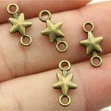 Metall - Verbinder kleiner Stern in Silber, Bronze und Gold
