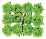 Röschen mit Draht Grün