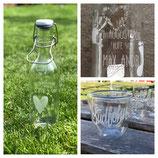 Glas personalisieren