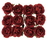 Röschen mit Draht Rot
