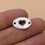 Metall - Verbinder Herz Oval