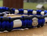 EM Keramik Paracord-Halsband 45 - 47cm (134-101-14-Police Silber)