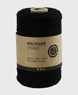 Makramée schwarz ø2mm   Lm198   330g