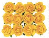 Röschen mit Draht Gelb