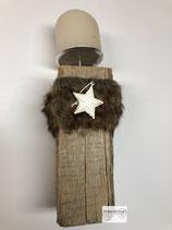 Kantholz alt mit Stempel 8x8cm