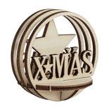 Holz-Steckteil-X-Mas 5.5cm ø