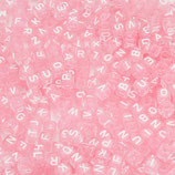 """Letterbead """"Baby Pink - Weiss Alphabet"""""""