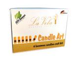 La Vela - Bienenwachs- Kerzen Bastelset, bis zu 6 Bienenwachskerzen selber Machen. DIY Set.