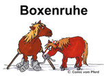 Schild: Boxenruhe