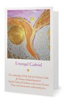 ♥ Hochwertiges Klapp-Grußkarten-Set Nr. 1, 5 Stück sortiert , 18,2 x 11,7 cm inkl. Umschlag, Goldene Engelmandalas