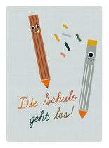 Schulstart Postkarte