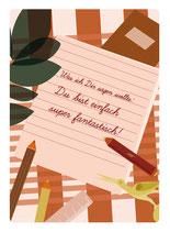 Du bis super fantastisch Postkarte