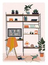 SuperMama Home Postkarte