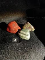 Steinset, je 3 Steine: Regenbogen-Jaspis, Drachen-Jaspis, Silberauge