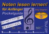 Noten lesen lernen! Pocketguide für Anfänger (von Jörg Sieghart / Tunesday-Bestellnummer: TPG01)