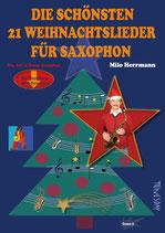 Die schönsten 21 Weihnachtslieder für Saxophon (von Milo Herrmann / Tunesday-Bestellnummer: TUN32)