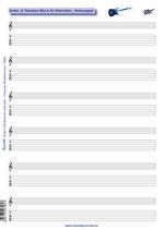 Noten- & Tabulatur-Block - Noten-Papier für Gitarristen (Tunesday Bestellnummer: TB06)