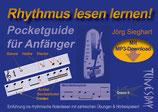 Rhythmus lesen lernen! Pocketguide für Anfänger (von Jörg Sieghart / Tunesday-Bestellnummer: TPG02)