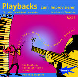 Playbacks zum Improvisieren Vol.1 - in allen 12 Tonarten - Pop/Rock  (von Jörg Sieghart Tunesday-Bestellnummer: GI101)