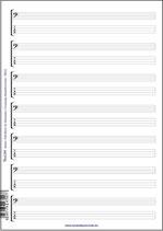 Noten- & Tabulatur-Block für Bassisten (Tunesday Bestellnummer: TB03)