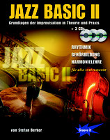 Jazz Basic 2 - Grundlagen der Improvisation in Theorie und Praxis (von Stefan Berker / Tunesday-Bestellnummer: JB02)