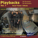 Playbacks für Drummer Vol.7 - Vocal Tracks 1 /Rock (von Substyle/ Tunesday-Bestellnummer: GI117)