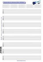 Tabulatur-Block mit Diagrammen für Gitarristen (Tunesday Bestellnummer: TB05)